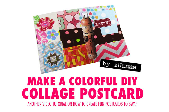 Make a Colorful DIY Collage Postcard with @ihanna #collage #tutorial #diy