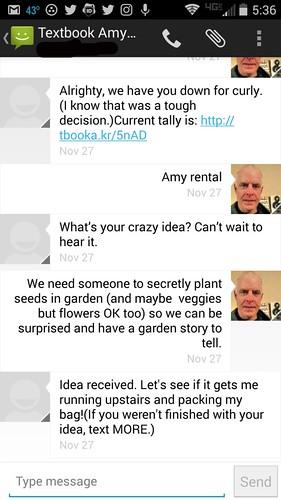 Texting RoboAmy