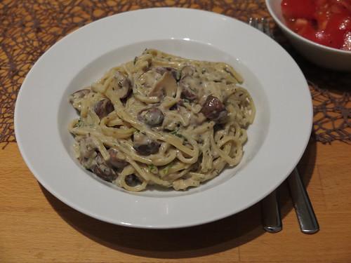 One Pot Pasta (Variante mit Champignons)