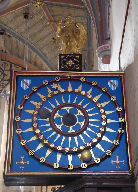 Astronomical Clock in Ottery St Mary Church