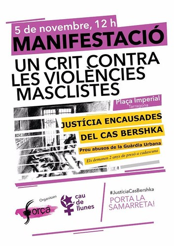 Mani 5N Tarragona cas Bershka