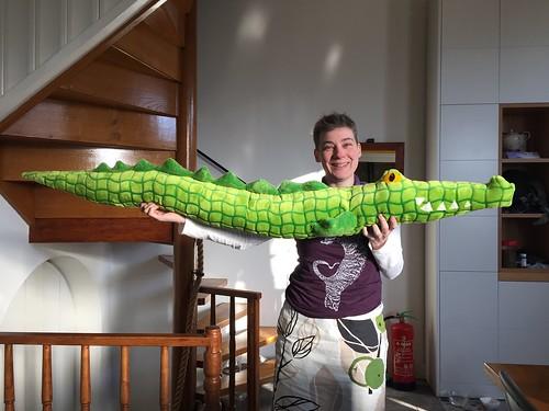 krokodil kussen crocodile plush