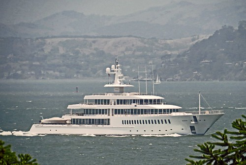 MUSASHI, yacht owned by Larry Ellison arriving in San Francisco 03July2013 | by rulenumberone2