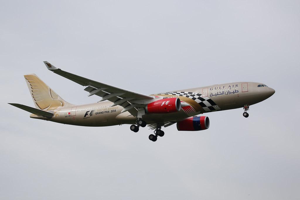 Gulf AIr Airbus A330 (reg. A9C-KB)