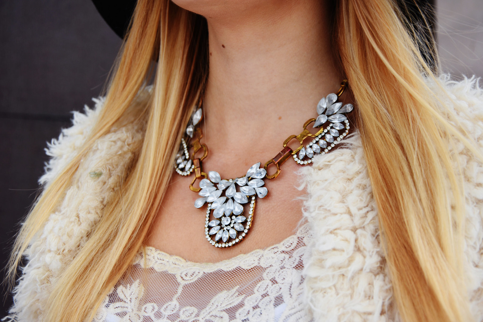 Ebay necklace in outfit