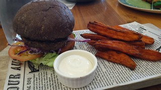 Vege Burger at Vege Rama West End