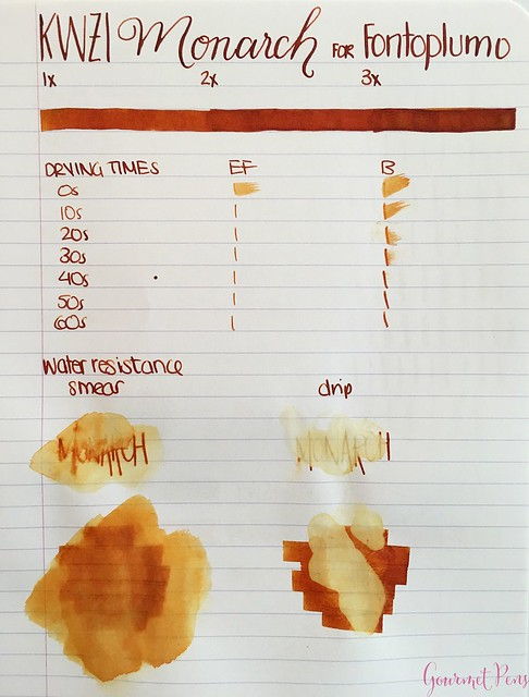 Ink Shot Review KWZI Monarch for @Fontoplum0 2