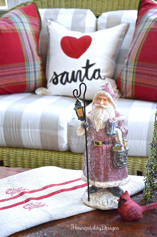 Vintage Santa - Sunroom - Housepitality Designs