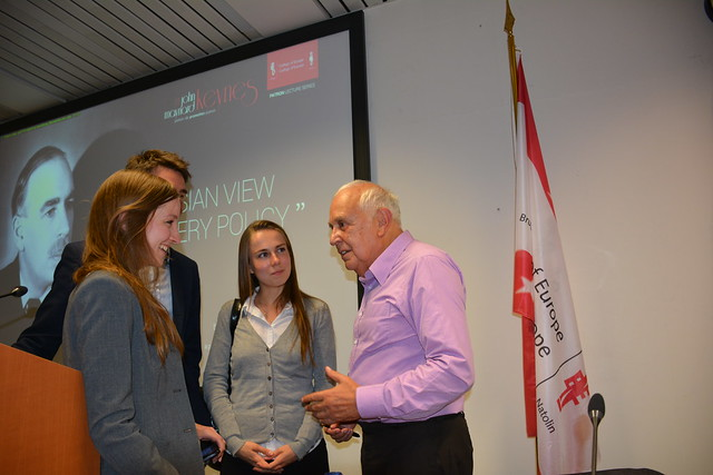 "Patron Lecture Series: ""A Keynesian View of Recovery Policy"" by the Rt Hon. Lord Robert SKIDELSKY.22 September 2016"