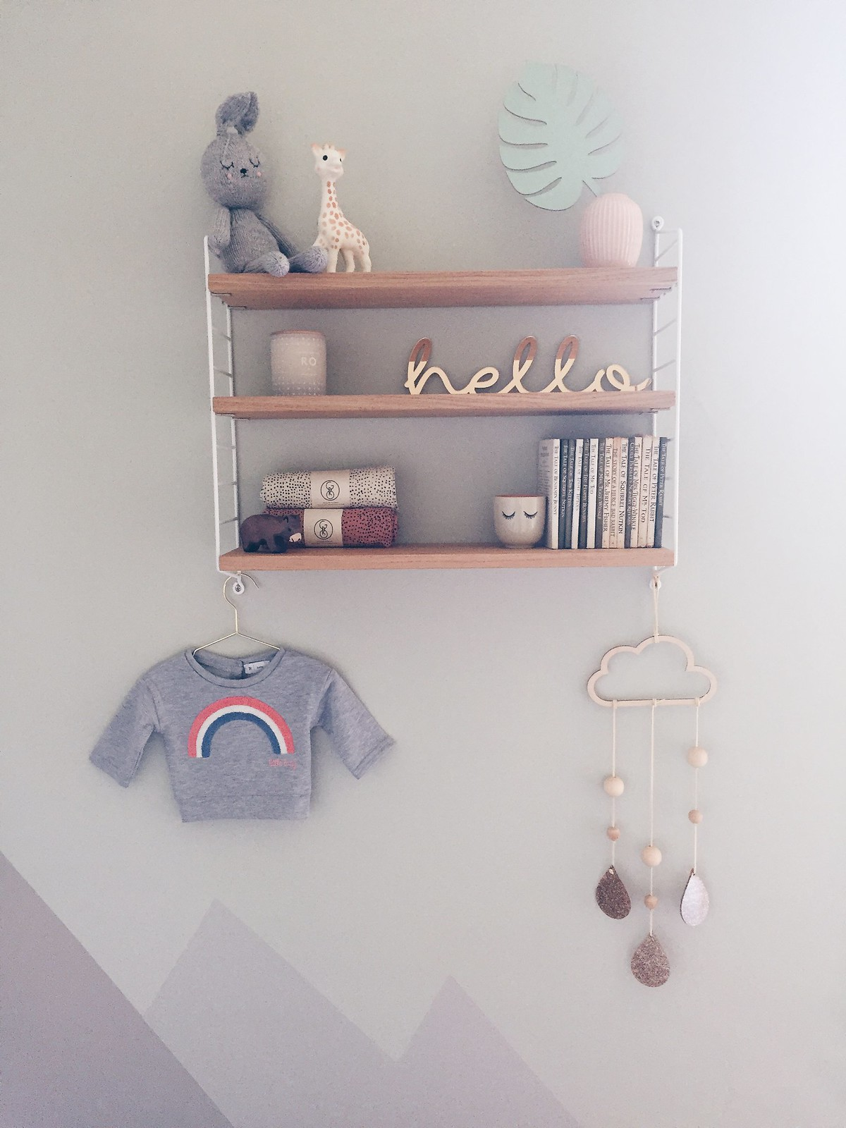 string shelving scandi nursery