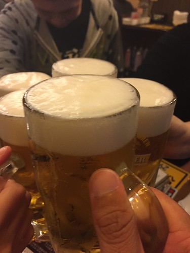 磯丸水産 生ビールで乾杯!祝杯!