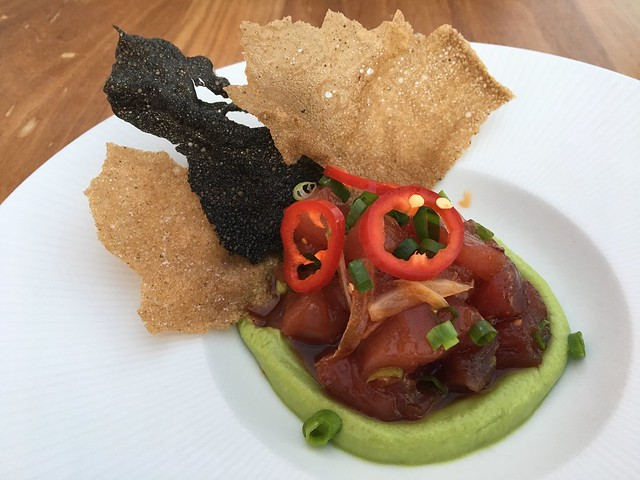 Ahi poke and avocado mousse - SKY Waikiki