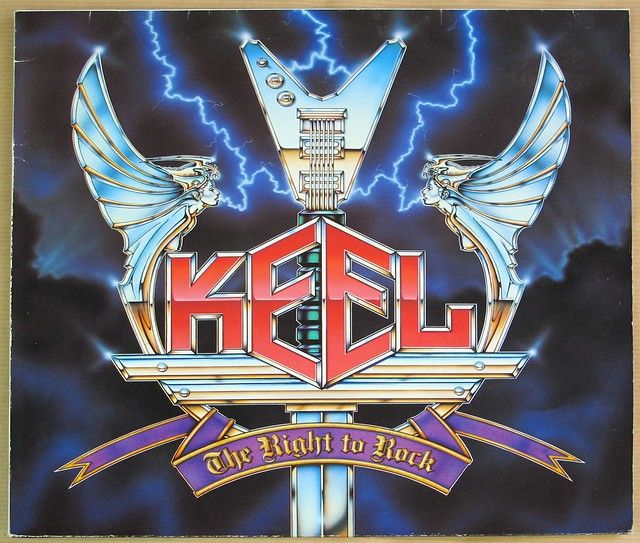 "KEEL THE RIGHT TO ROCK 12"" LP VINYL"