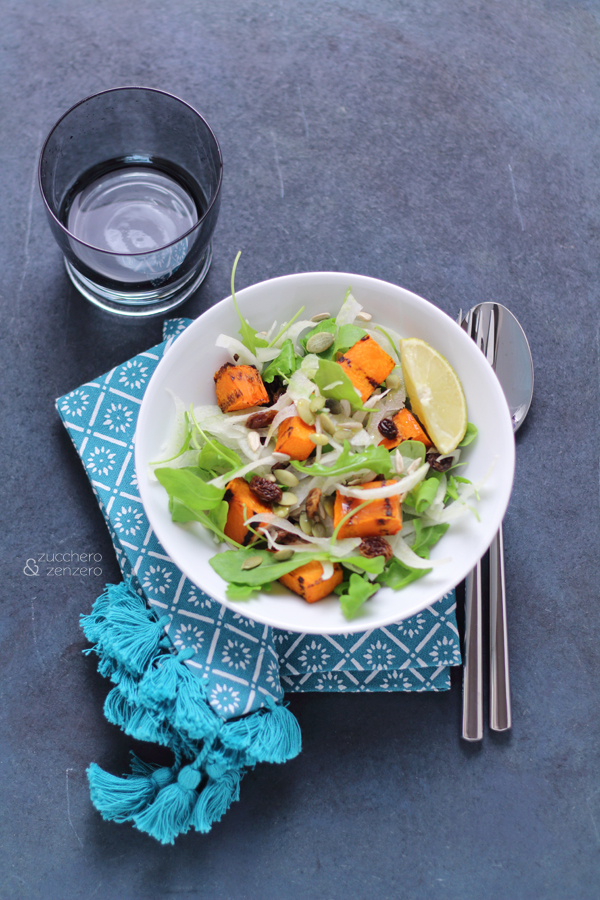 Grilled pumpkin and fennel salad
