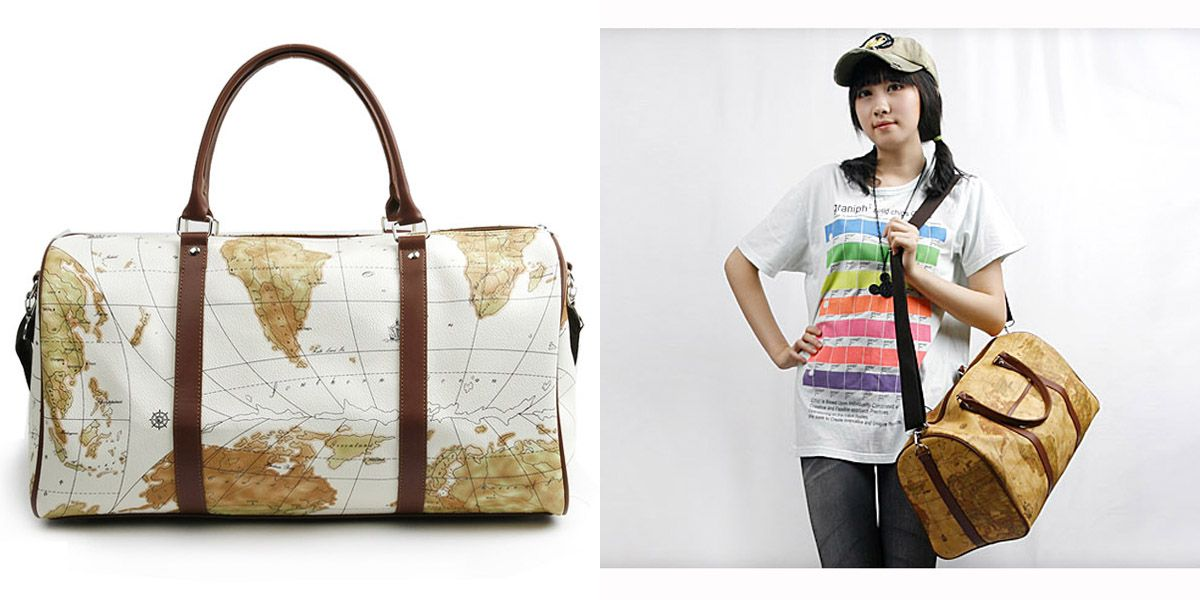 World Map Duffel Bag