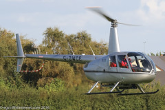 G-DWCE - 2006 build Robinson R44 Raven II, inbound to Barton for a re-fuel