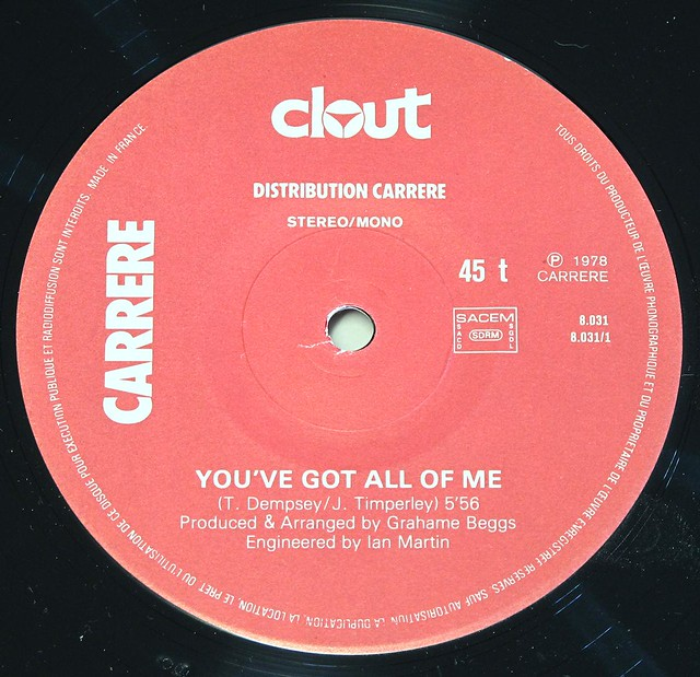 "CLOUT - YOU'VE GOT ALL OF ME 12"" MAXI-SINGLE"