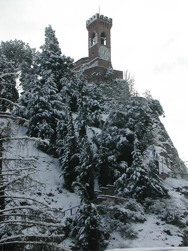 Brisighella neve torre orologio - foto Fotoamatori di Brisighella