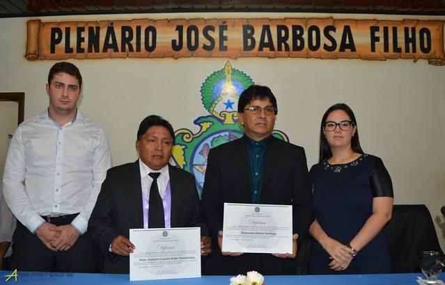Justiça diploma eleitos e encerra processo eleitoral em Jacareacanga, Posses dos eleitos em Jacareacanga