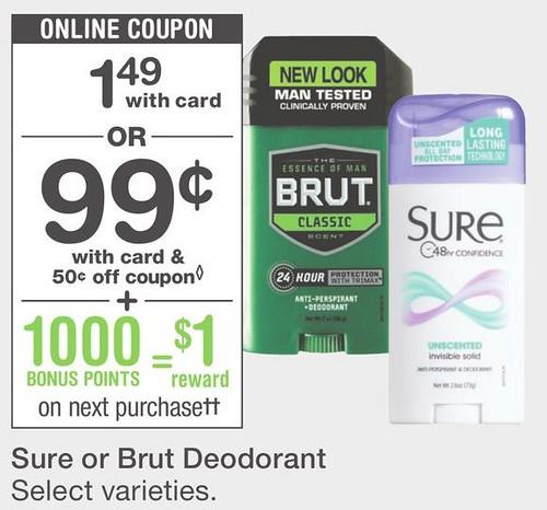 Brut net coupons