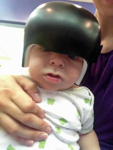 First time in his helmet