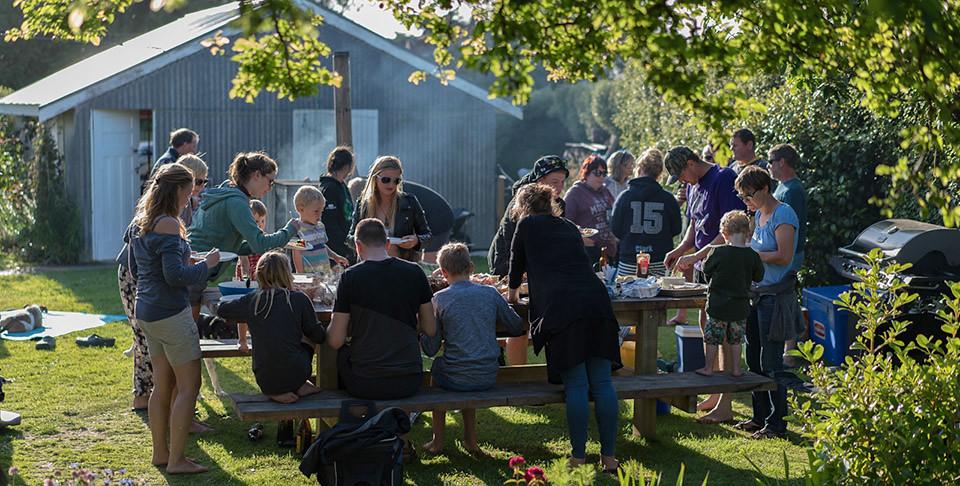 BBQ mit Freunden in Invercargill