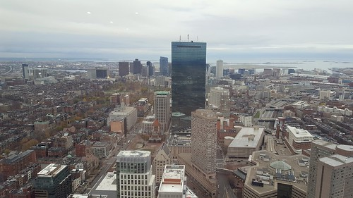 Boston skyline from Skywalk Observatory
