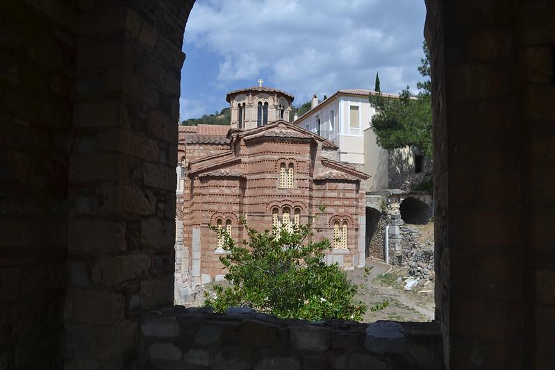La antigua iglesia de Santa Barbara, ahora consagrada a la Virgen.