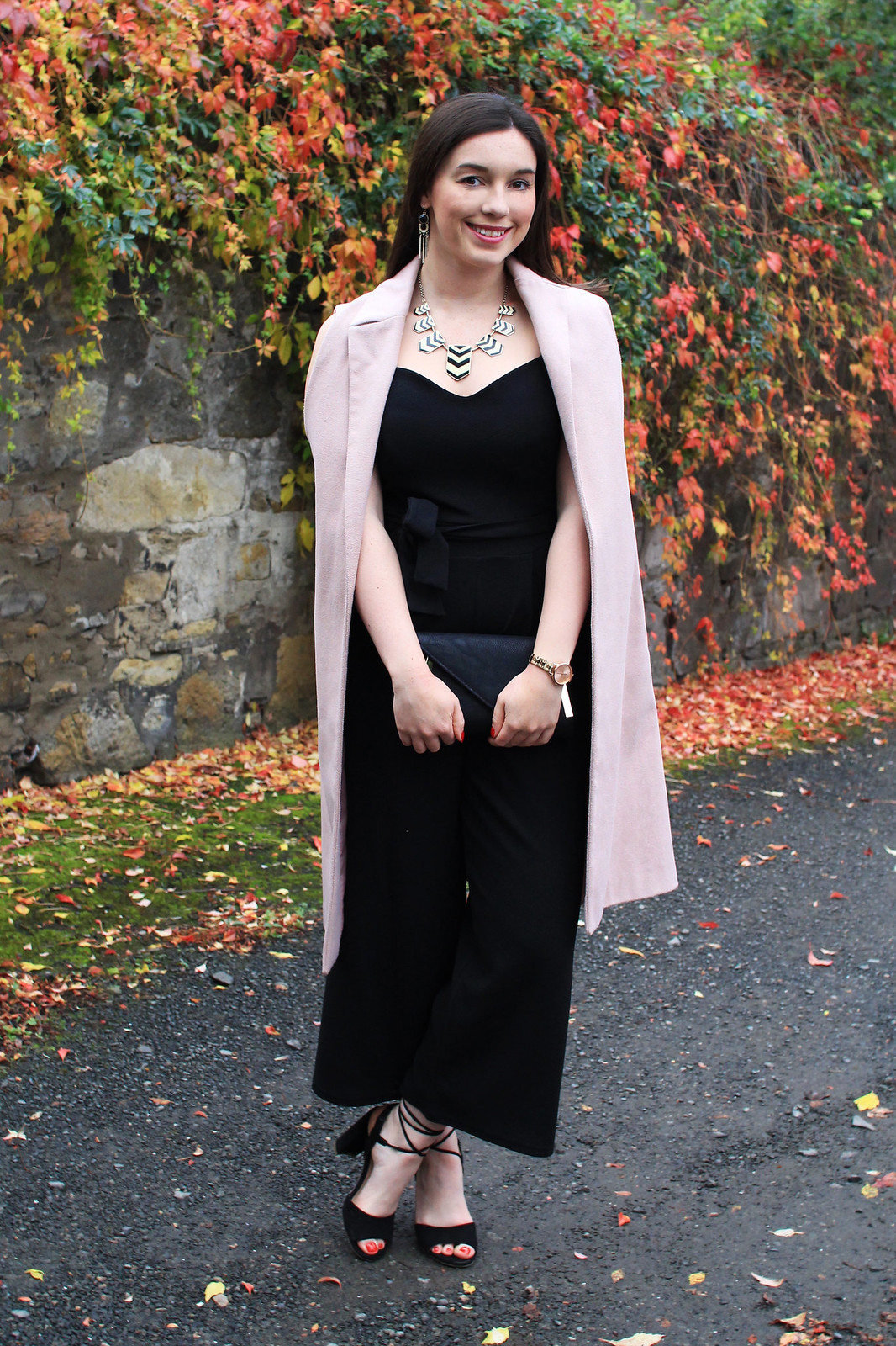 Quiz black jumpsuit House of Fraser fashion blogger UK Edinburgh