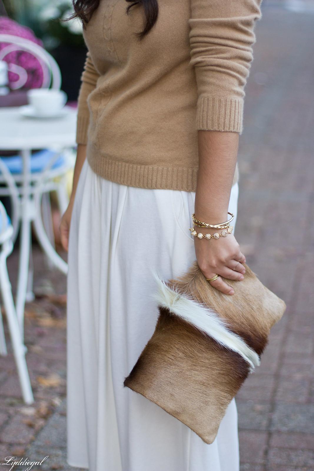 white Culottes, camel sweater, toe cap heels, springbok clutch-4.jpg