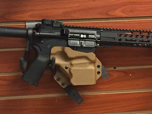 Holstered AR-15 Pistol