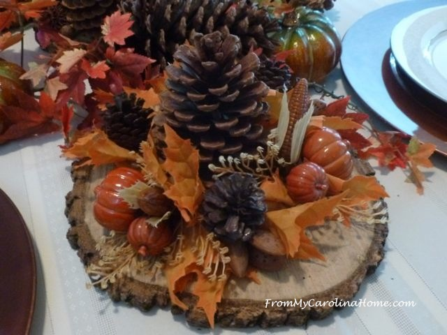 Rustic Autumn Tablescape ~ From My Carolina Home
