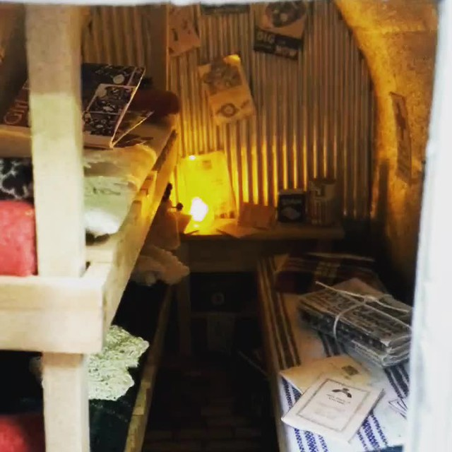 One-twelfth scale miniature anderson shelter