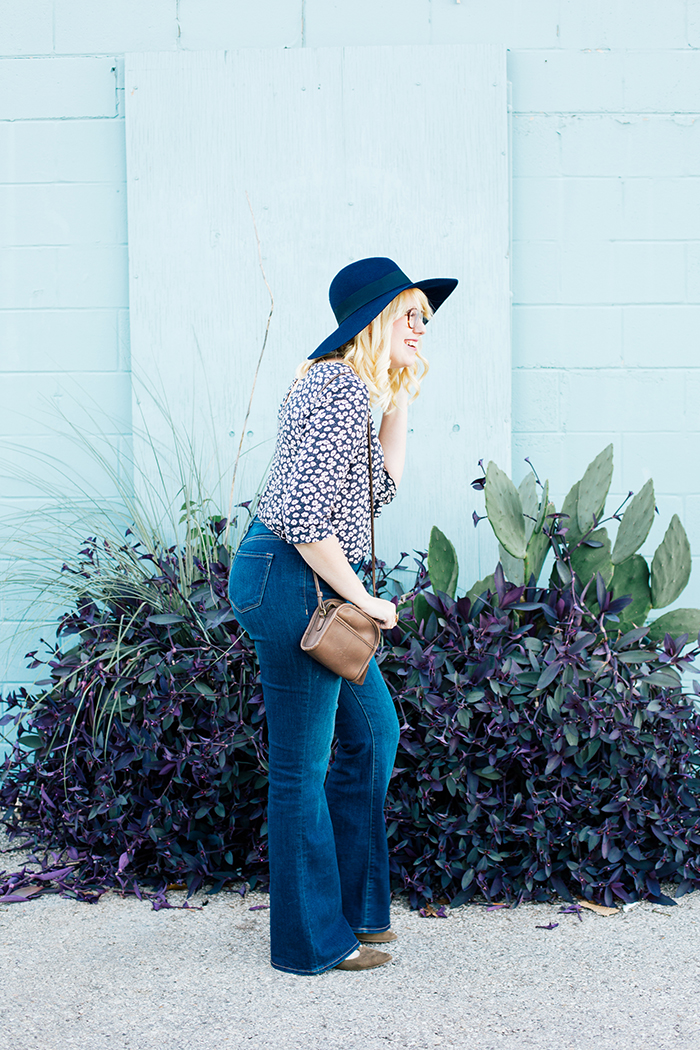 writes like a girl old navy bell bottoms navy brixton hat4