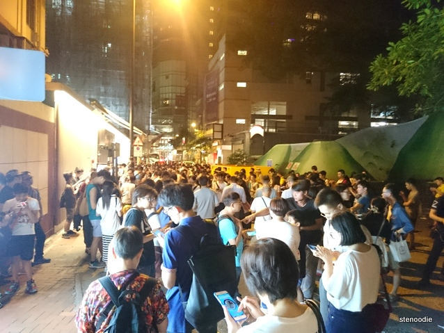 crowds of people playing Pokemon Go