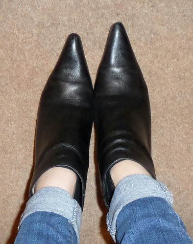 Next pointy black shoe boots ankle boots