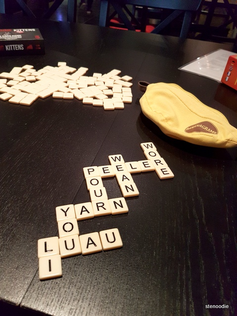 Bananagrams at A-Game Café
