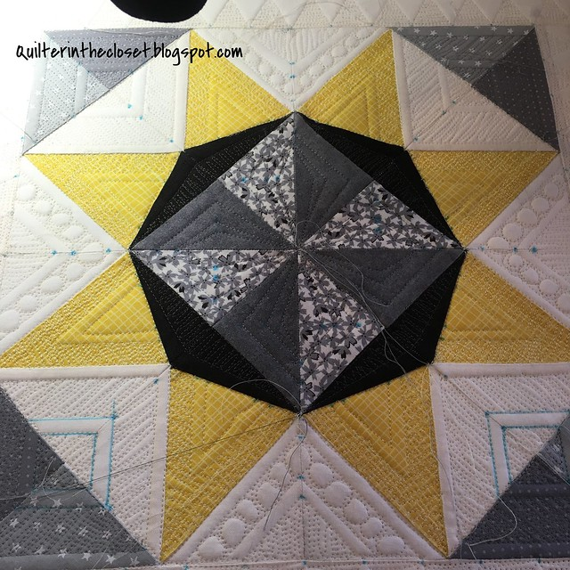 Lucky Star, quilting in progress