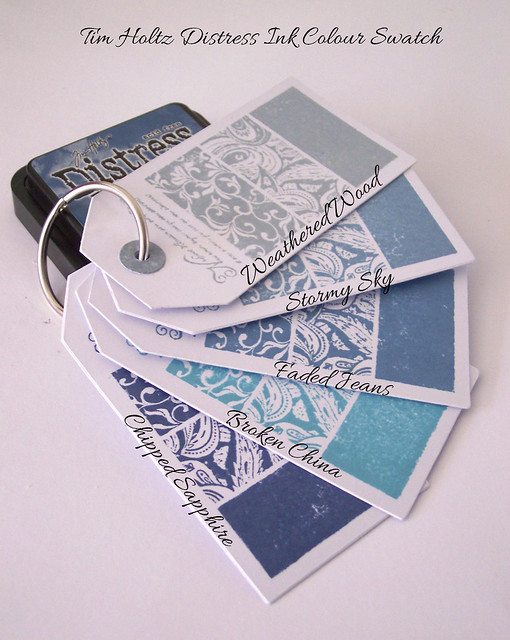 Tim Holtz Colour Swatch 3 with text