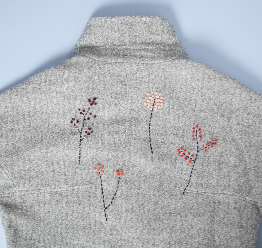 DIY Abrigo bordado · DIY Embroidered coat · Fábrica de Imaginación · Tutorial in Spanish