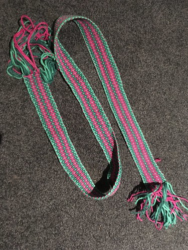 """Finished woven band, 44""""x1.3/4"""""""