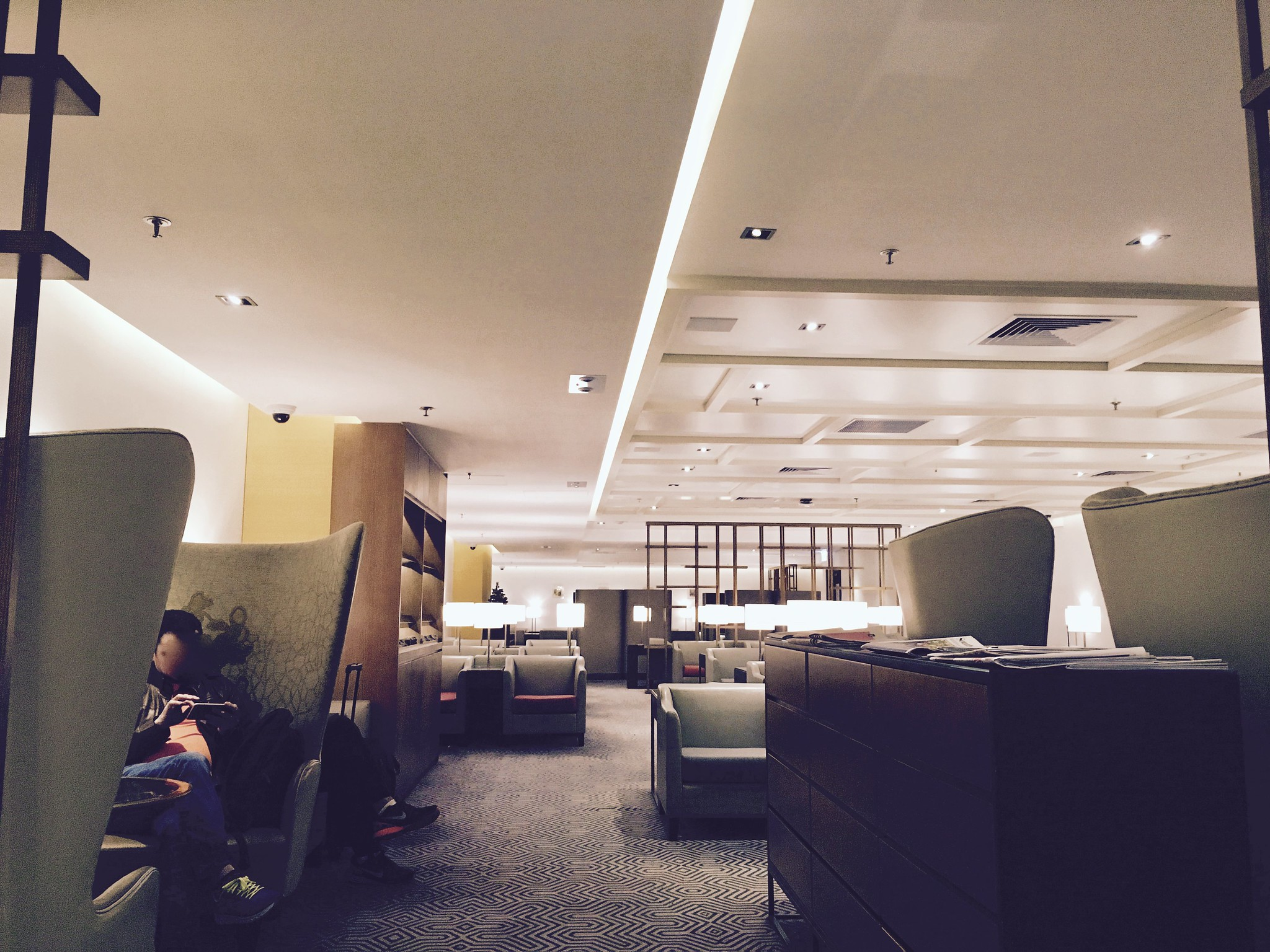 Hong Kong International Airport Singapore Airlines SilverKris Business Lounge