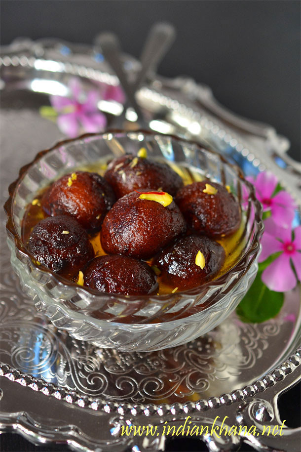 Chocolate Gulab Jamun | Chocolate Stuffed Gulab Jamun Recipe