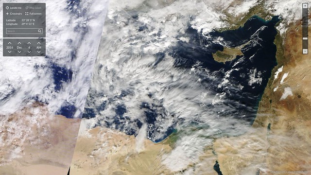Satellite view of Tropospheric Water Grabbing