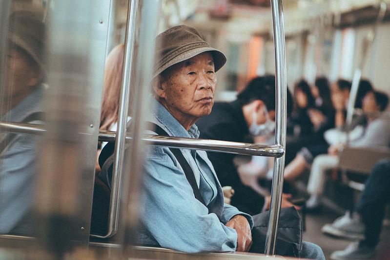 電車老者|日本 Japan