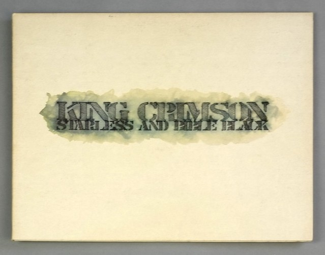 "KING CRIMSON STARLESS AND BIBLE BLACK ILPS 9275 PINK RIM GATEFOLD 12"" LP VINYL"