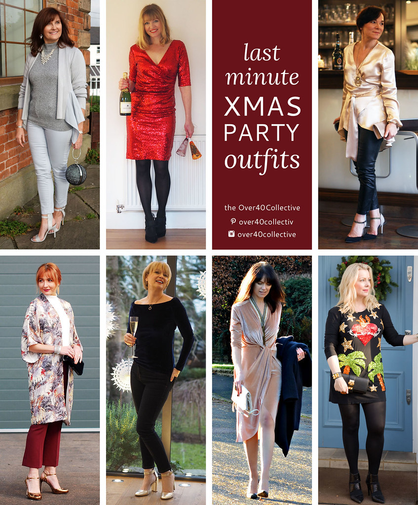 7 last minute christmas party outfits from 7 over 40 fashion bloggers the over40collective