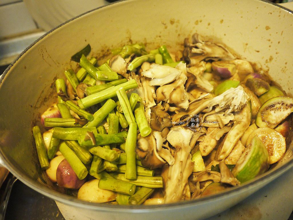 孤身廚房-滿滿新鮮香料版的泰式綠咖哩雞19
