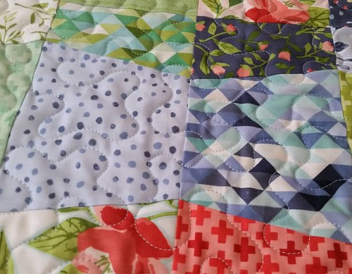 Up close quilting