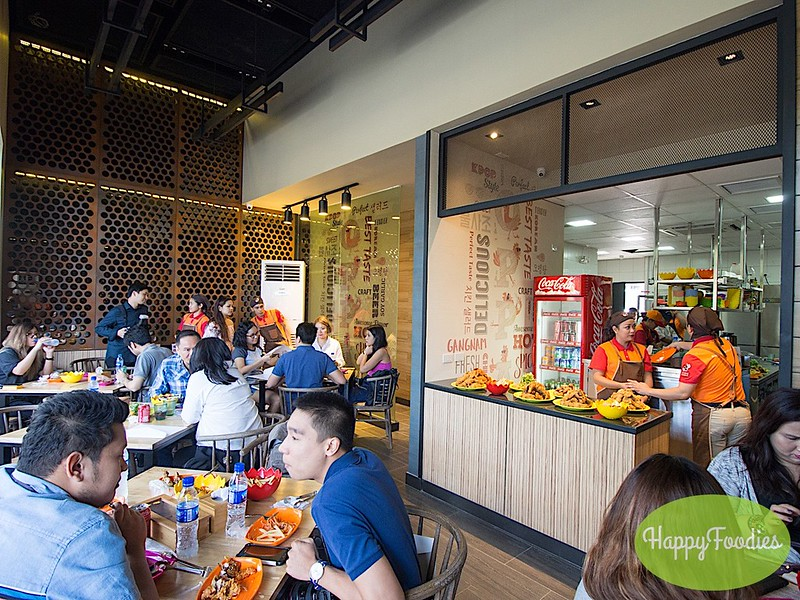 The indoor dining area at Oppa Chicken Portico